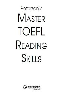 Peterson`s Master TOEFL Reading Skills